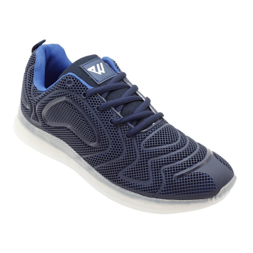 Wholesale Footwear Men's Casual Athletic Sneakers In Navy