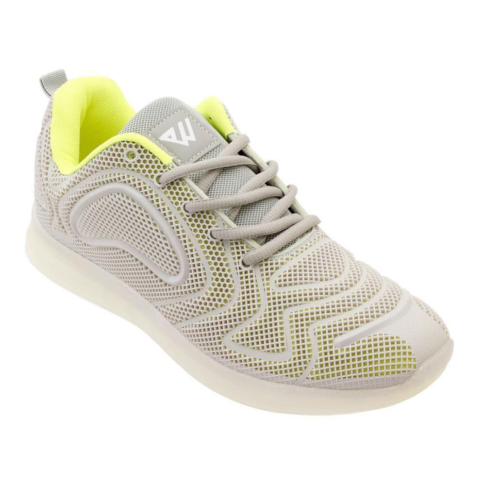 Wholesale Footwear Men's Casual Athletic Sneakers In Neon L. Grey