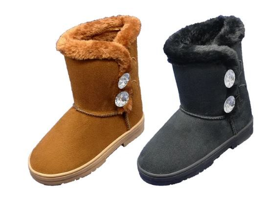 Wholesale Footwear Women's Winter Fashion Boots With Fur Lining
