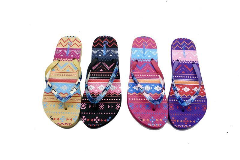 Wholesale Footwear DESIGNER PRINT WOMEN'S FLIP-FLOPS WITH
