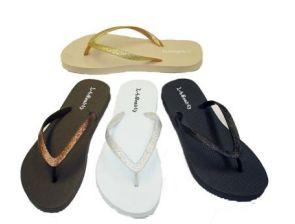 Wholesale Footwear CAMMIE WOMENS FLIP FLOPS WITH GLITTERING STRAPS