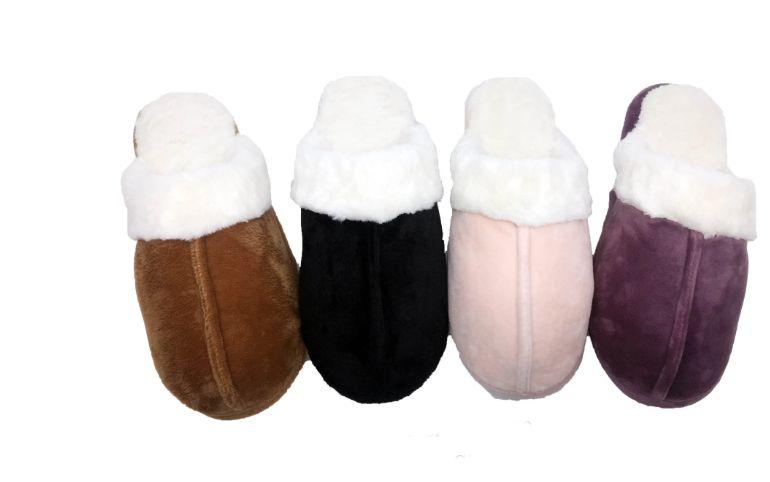 Wholesale Footwear SNOW WHITE FURRY WINTER SLIPPERS FOR WOMEN