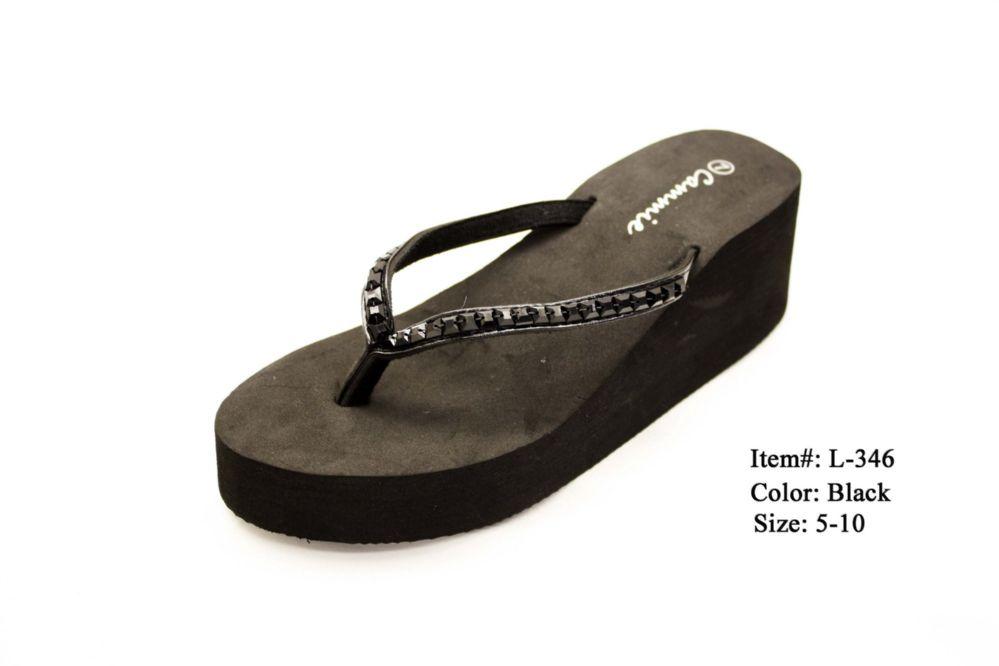 Wholesale Footwear Ebony Wedge Style Women's Sandals