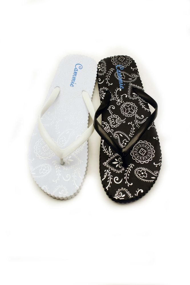 Wholesale Footwear WOMENS FLIP FLOPS WITH CLASSICAL PRINT