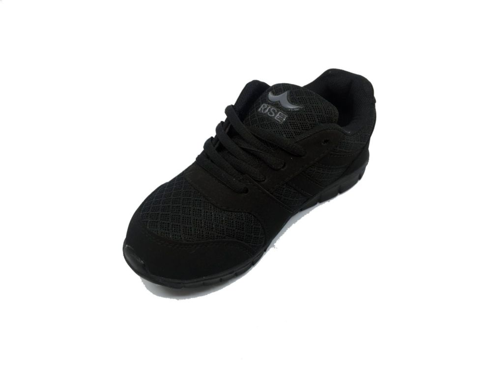 Wholesale Footwear RISER BREATHABLE SNEAKERS FOR KIDS IN BLACK