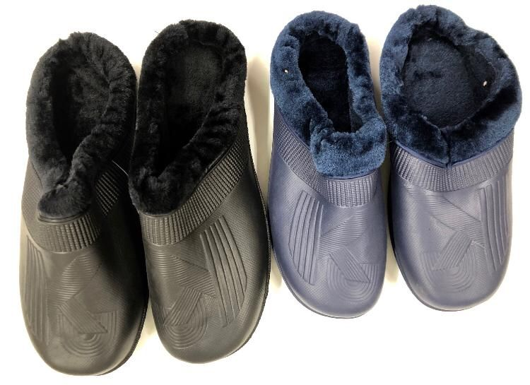 Wholesale Footwear Men's Winter Clogs With Fleece Warm Lining - Assorted Colors