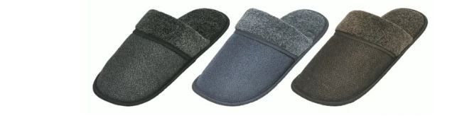 Wholesale Footwear Men's Winter Fleece Lined House Slipper With Fur Cuff Ling