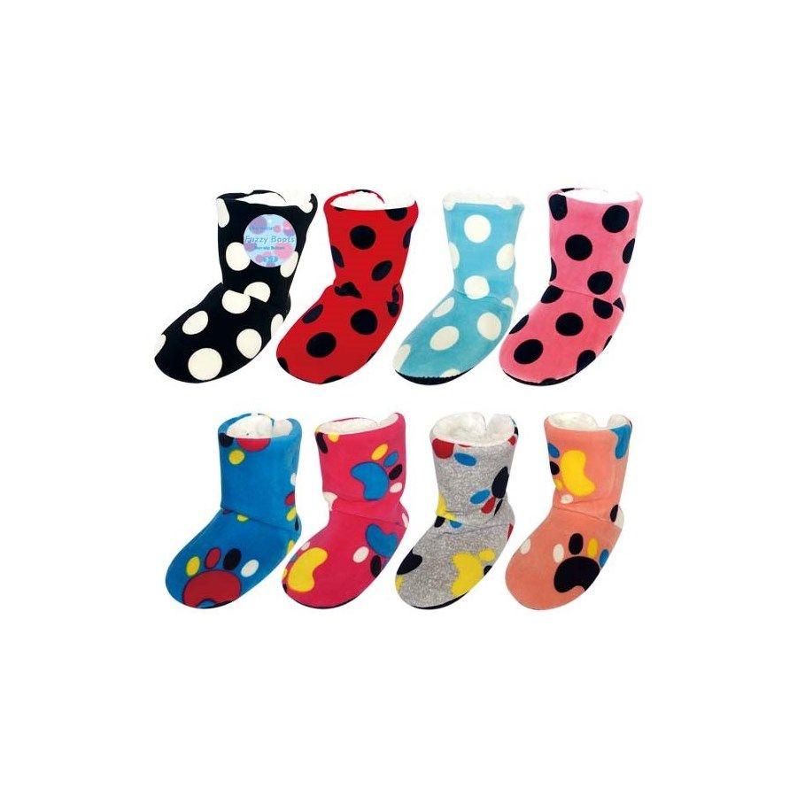 Wholesale Footwear kid's fuzzy boots