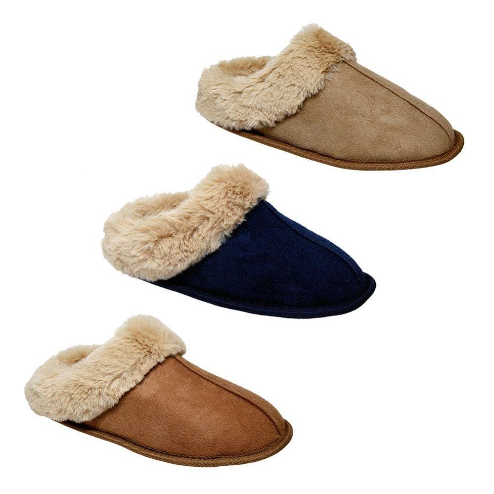 Wholesale Footwear Women's Plush Fur Lined House Slipper