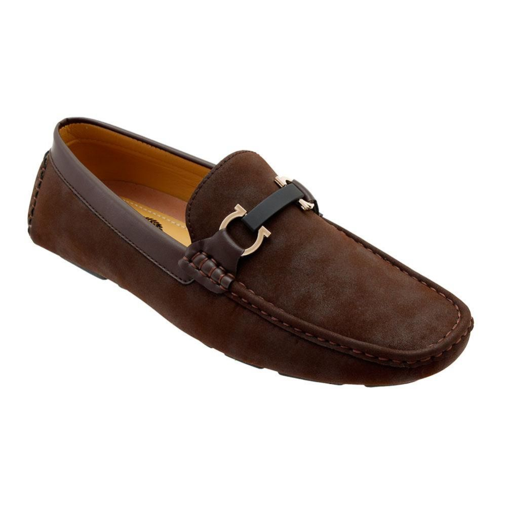 Wholesale Footwear Mens Loafer Driver Shoes In Brown