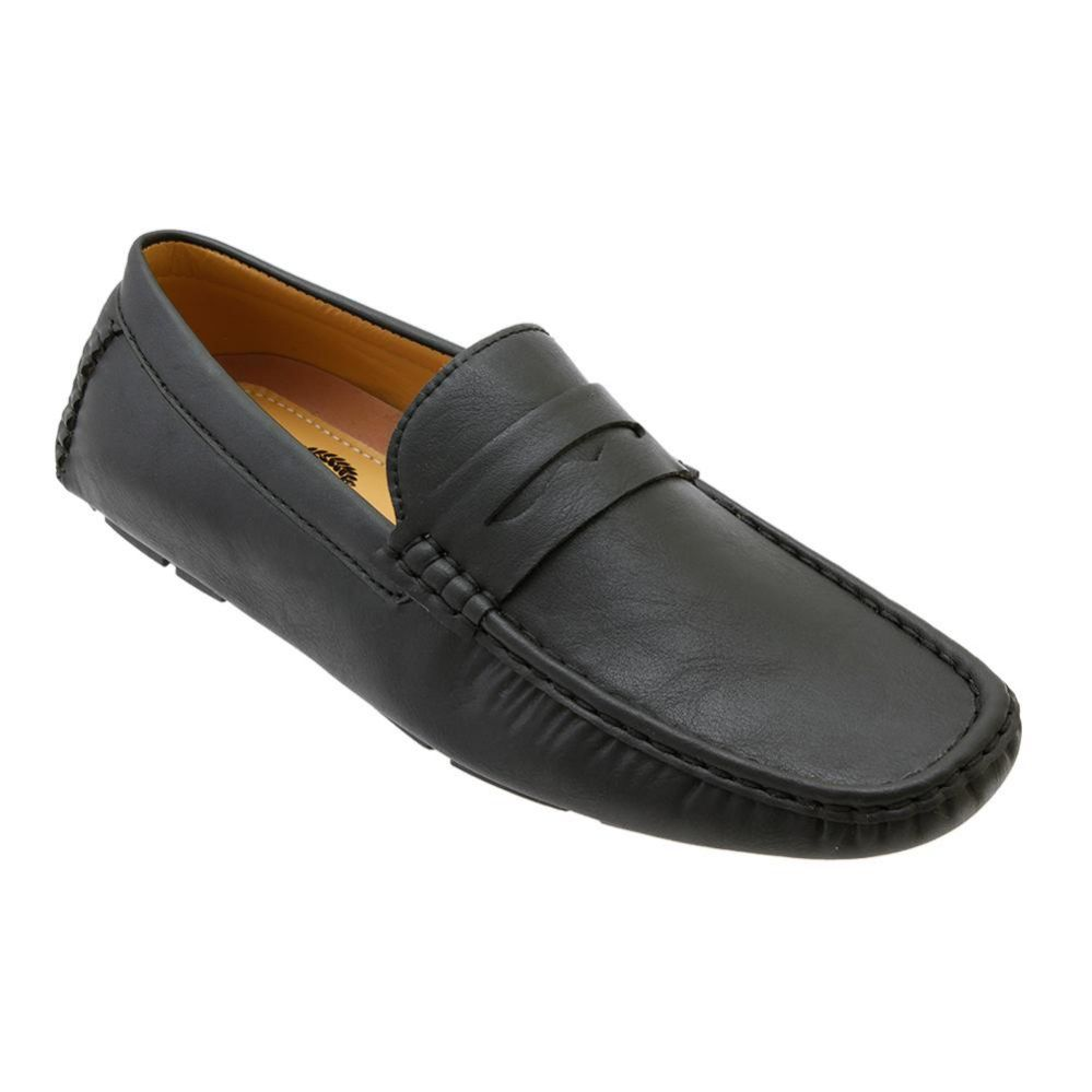 Wholesale Footwear Mens Penny Loafer Driver Shoes In Black
