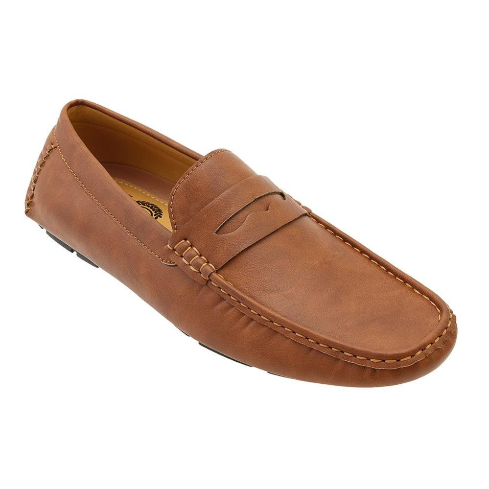 Wholesale Footwear Mens Penny Loafer Driver Shoes In Brown
