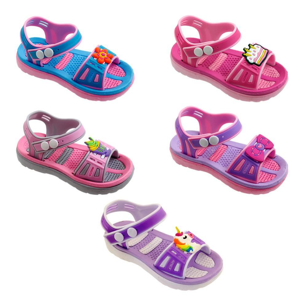 Wholesale Footwear Girls Cartoon Sandal Assorted Color