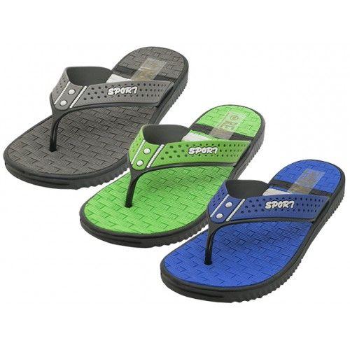Wholesale Footwear Men's Real Soft Comfortable Sport Thong Sandals