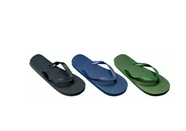Wholesale Footwear Men's Solid Color Flip Flops Assorted Colors