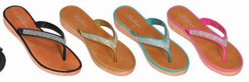 Wholesale Footwear Womens Jewel Flip Flop Sandal