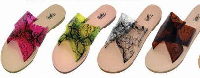 Wholesale Footwear Womens Slim Animal Neon Sandal