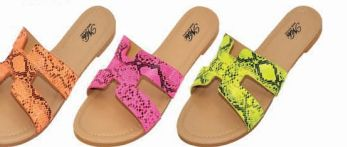 Wholesale Footwear Womens Slim Animal Pastel Sandal
