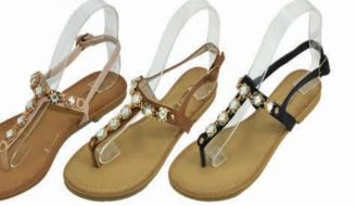 Wholesale Footwear Womens Summer Bohemian Flat Sandal