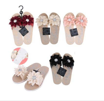 Wholesale Footwear CC Sandal Ladies Flower w/ Stone