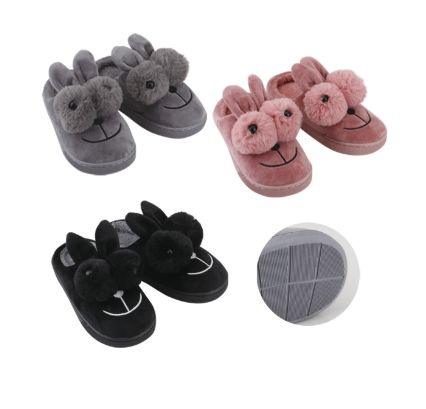Wholesale Footwear Thermaxxx Kid's Slipper Bunny w/ 2 Fur Balls