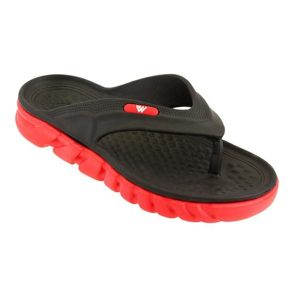 Wholesale Footwear Mens Thong Sandals In Black And Red