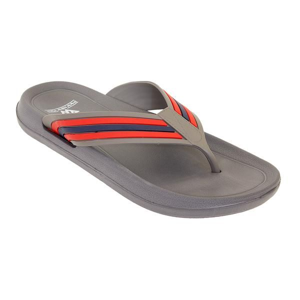 Wholesale Footwear Mens Sandals In Gray And Red