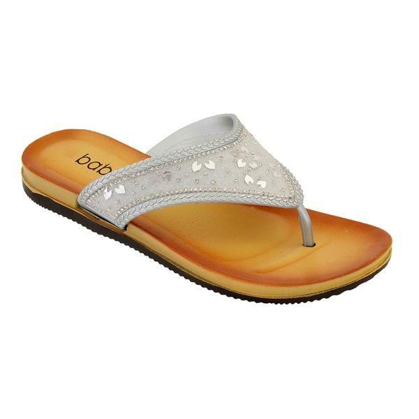 Wholesale Footwear Women's Fashion Flip Flop In Silver
