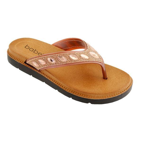 Wholesale Footwear Women Rhinestone Sandals In Rose Gold