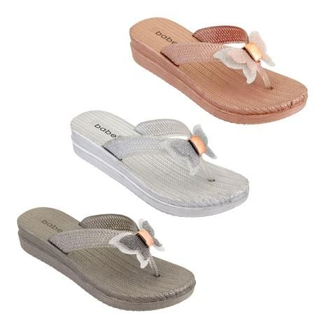 Wholesale Footwear Women's Butterfly Thong Sandals Assorted