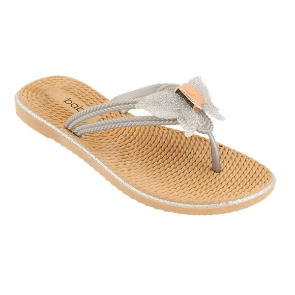 Wholesale Footwear Women's Butterfly Sandals In Silver