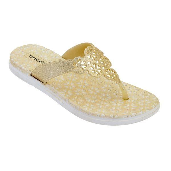 Wholesale Footwear Women's Glitter Sandals In Yellow