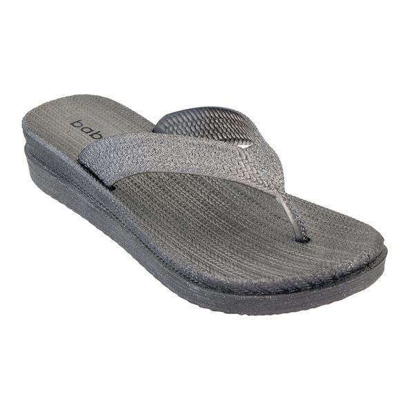 Wholesale Footwear Women's Butterfly Thong Sandals In Black