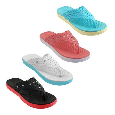 Wholesale Footwear Women's Slippers With Rhinestones Assorted Color