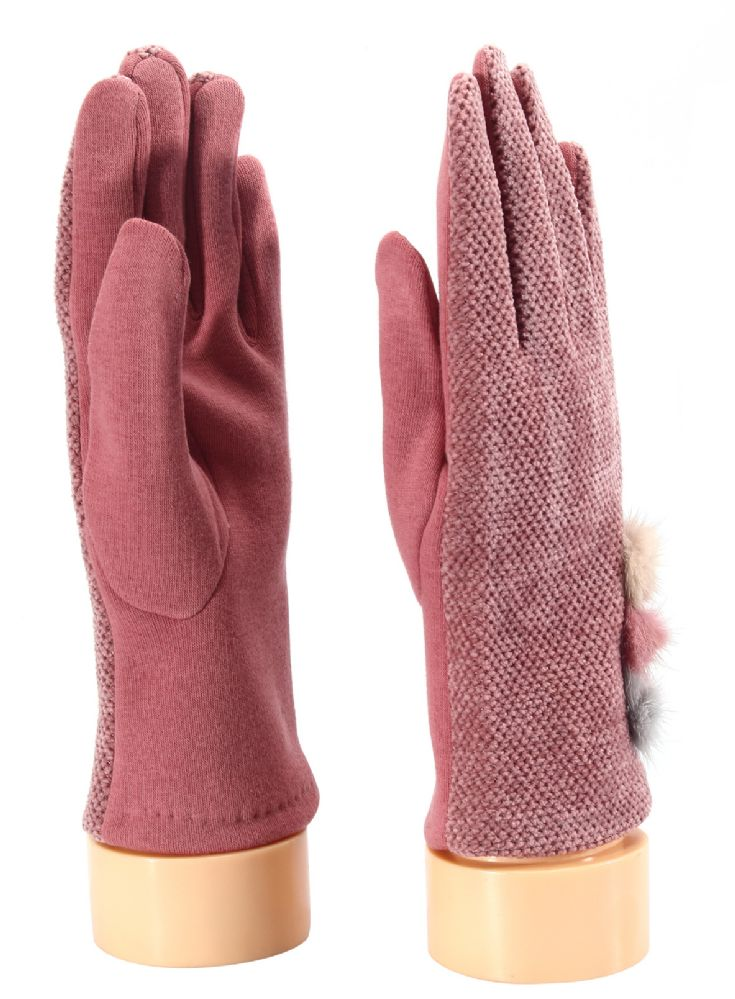 Wholesale Footwear Ladies Glove With Fuzzy Button