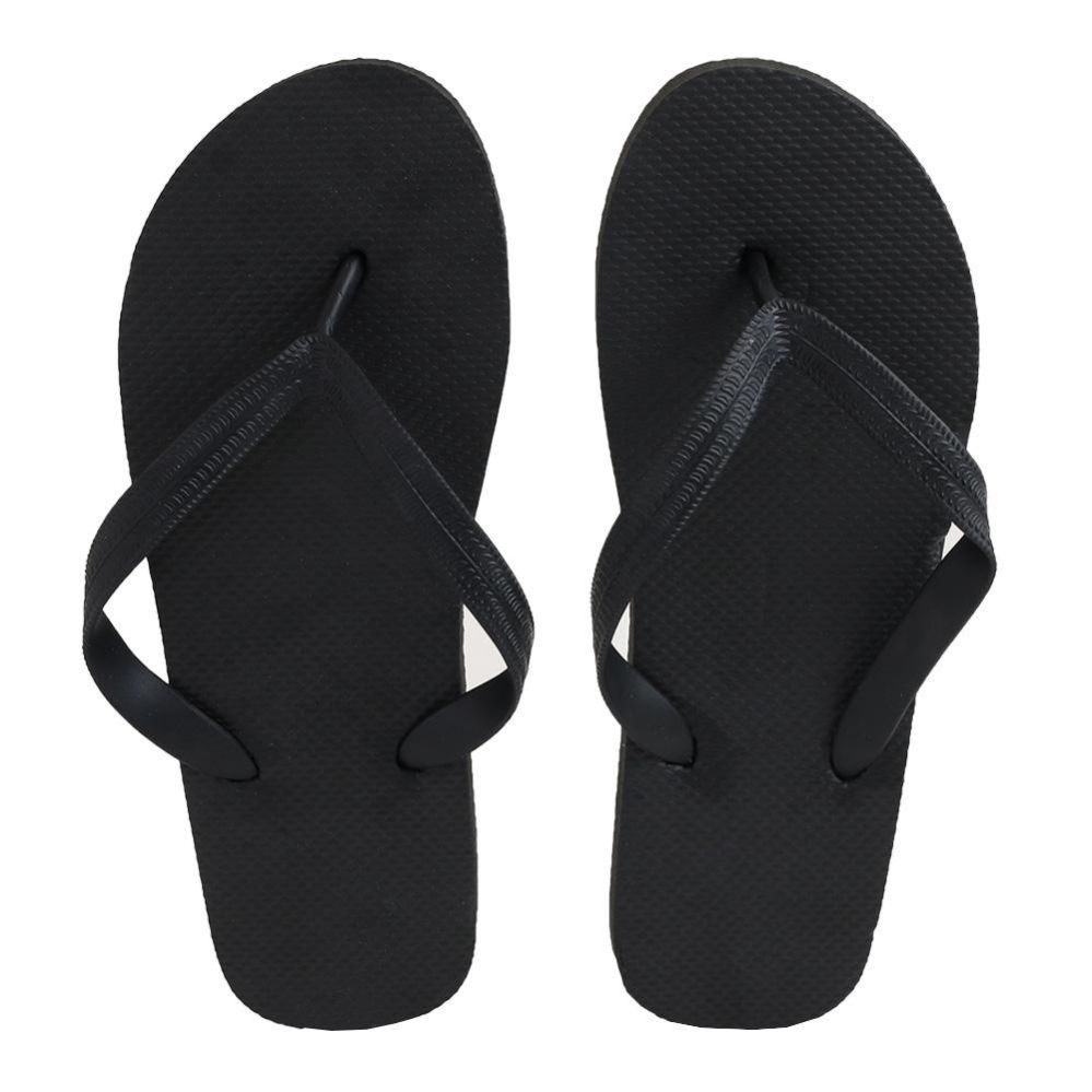 Wholesale Footwear Men's Black Color Flip Flops