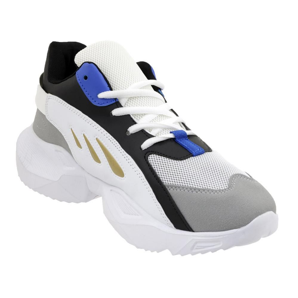 Wholesale Footwear Men's Casual Sneakers In White