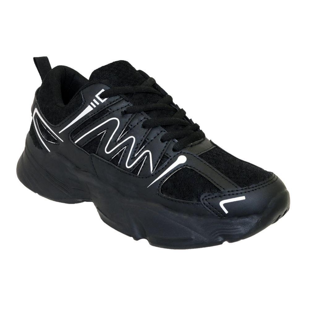 Wholesale Footwear Men's Casual Sneakers In Black