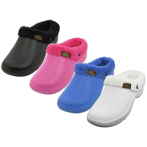 Wholesale Footwear Women's Cotton Terry Lining Insole Soft Clogs