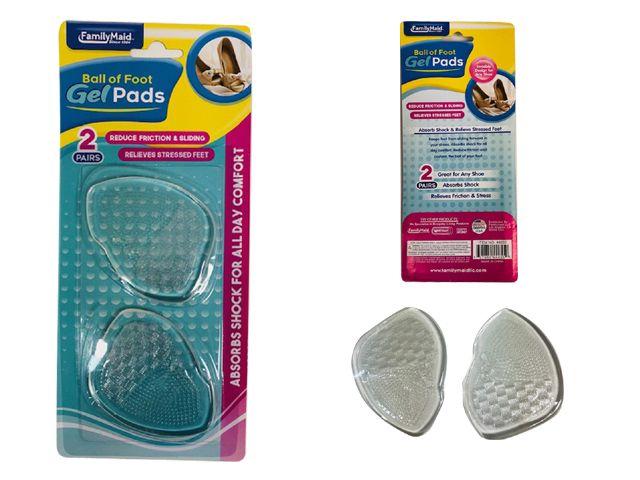 Wholesale Footwear 2 Pairs Ball Of Foot Gel Pads