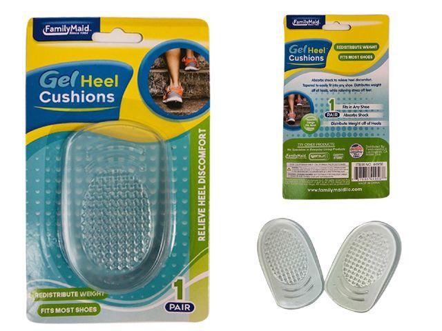 Wholesale Footwear 1 Pair Gel Heel Cushion Insoles