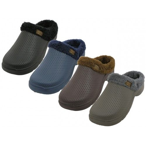 Wholesale Footwear Men's Cotton Terry Lining Insole Soft Clogs