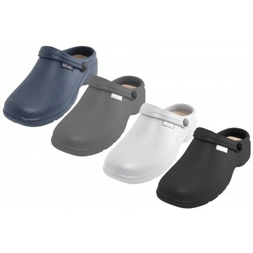 Wholesale Footwear Men's Sport Close Toe Rubber Nursing Clogs Assorted Colors