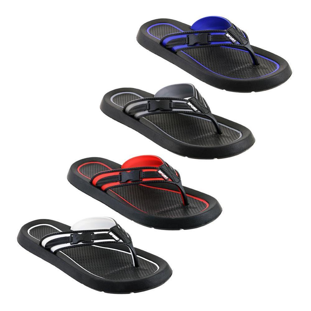 Wholesale Footwear Mens Flip Flops In Assorted Colors