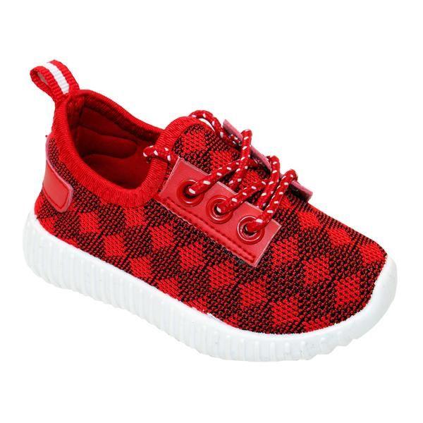 Wholesale Footwear Big Kids Knit Sneaker In Red