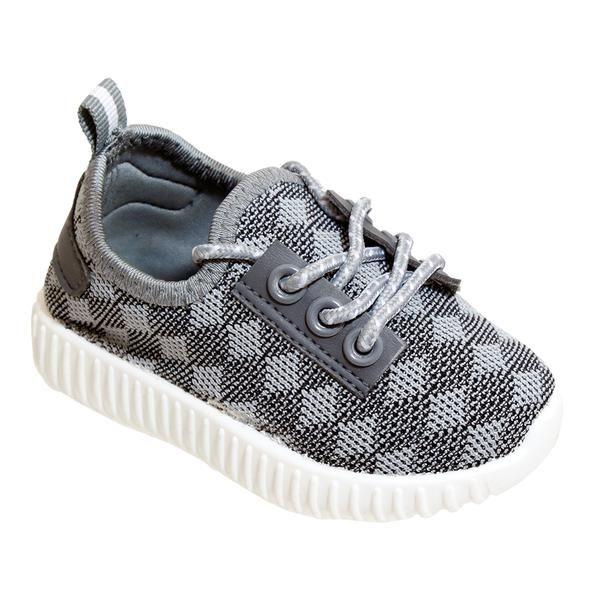 Wholesale Footwear Big Kids Knit Sneaker In Gray