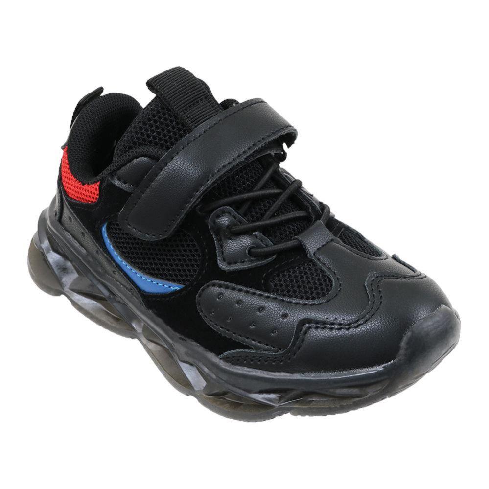 Wholesale Footwear Boy's Sneakers Casual Sports Shoes In Black