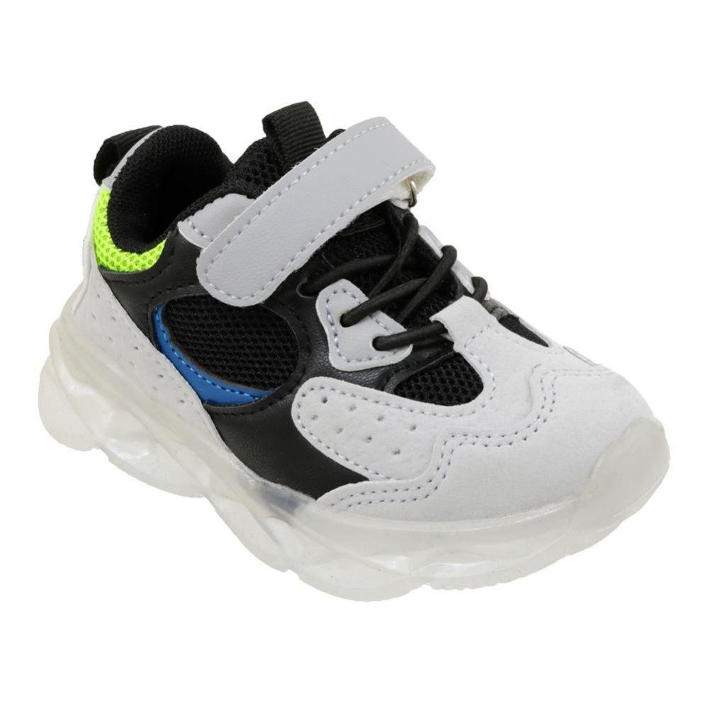 Wholesale Footwear Boy's Sneakers Casual Sports Shoes In Gray