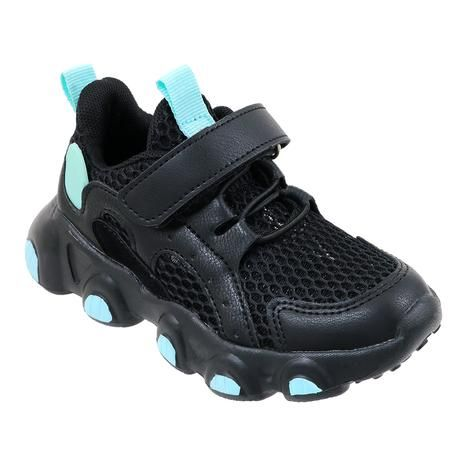 Wholesale Footwear Girls Sneakers Casual Sports Shoes In Black And Mint