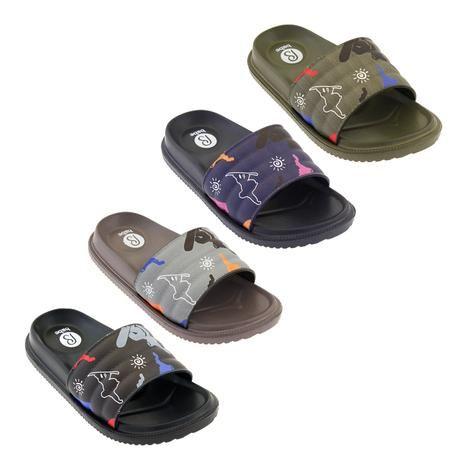 Wholesale Footwear Boys Print Slides